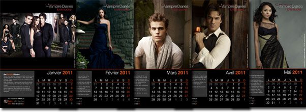 Exemple de pages du calendrier The Vampire Diaries 2011
